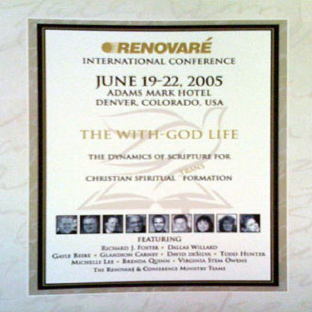 The With-God Life: Renovare International Conference