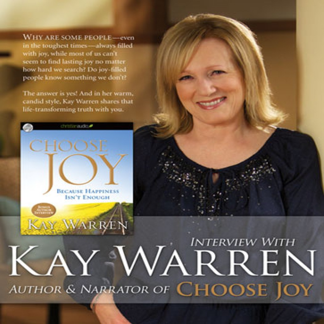 Interview: Kay Warren on Choose Joy