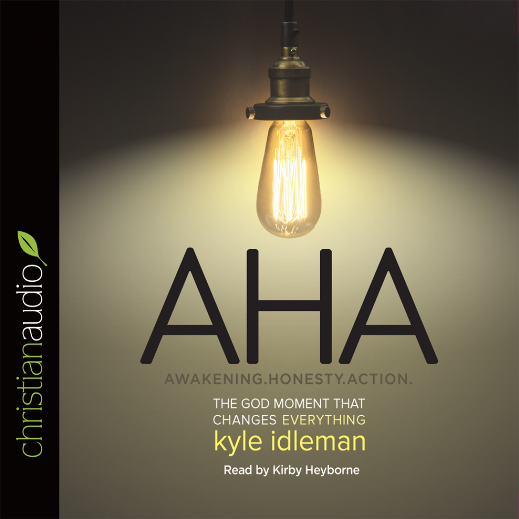 """AHA: The God Moment That Changes Everything"" by Kyle Idleman"