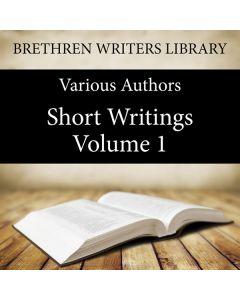 Short Writings Volume 1